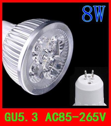 GU5.3 8W 4x2W CE Rohs warm cool white 720LM High Power